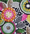 Modern Cotton Fabric -Floral on Black