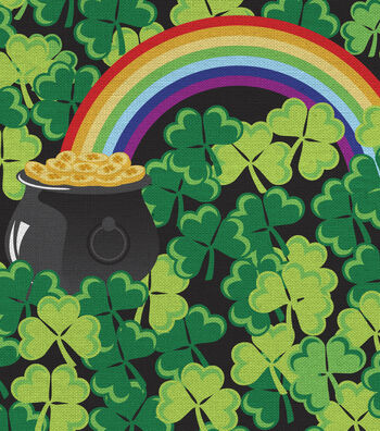St. Patrick's Day Fabric 44''-Shamrocks & Rainbows