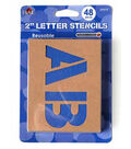 Plaid 48 pk 2\u0027\u0027 Stencils Value Pack-Plain Jane Letters