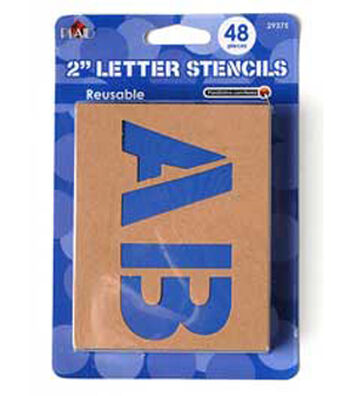 Plaid 48 pk 2'' Stencils Value Pack-Plain Jane Letters