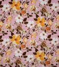 Homestead Crinkle Cotton Fabric-Pink Romantic Floral