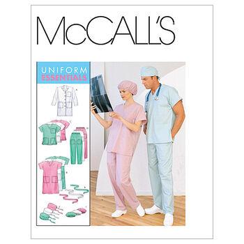 McCalls Patterns M6107 Adult Lab Coat Scrubs Size XL XXL