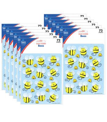 Carson Dellosa Bees Shape Stickers 12 Packs
