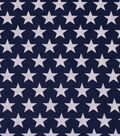 Wide Cotton Fabric-Stars on Navy