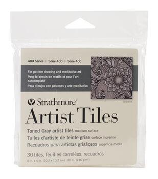 Strathmore Artist Tiles  30/Pkg-Toned Gray