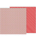 Merry Merry Double-Sided Cardstock 12\u0022X12\u0022-Peppermints