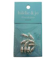 hildie & jo 10 Pack Barrel Clasps-Silver, , hi-res