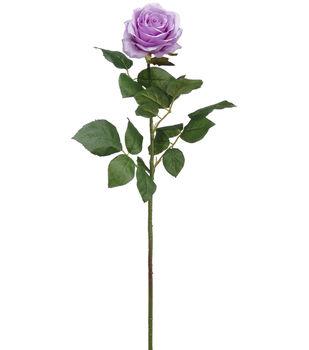 Bloom Room 28'' Confetti Rose Stem-Dark Lavender