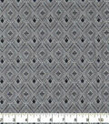 Wide Flannel Fabric-Diamonds on Navy