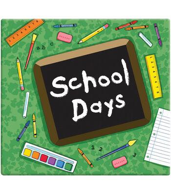 "MBI School Days Post Bound Album 12""X12""-Green"
