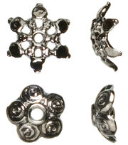 Cousin Jewelry Basics Mixed Caps Beads 44/Pkg-Gunmetal, , hi-res
