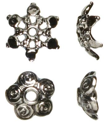 Cousin Jewelry Basics Mixed Caps Beads 44/Pkg-Gunmetal