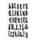 Tim Holtz Cling Rubber Stamp Set-Grudge Alphabet