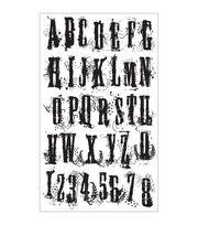 Tim Holtz Cling Rubber Stamp Set-Grudge Alphabet, , hi-res