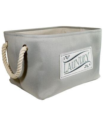 Large Laundry Storage Soft Shallow Bin-Gray