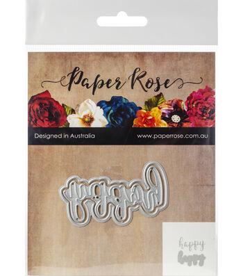 Paper Rose 2 pk Layered Metal Dies-Happy