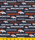 Denver Broncos Cotton Fabric -Glitter