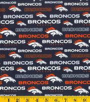 Denver Broncos Cotton Fabric -Glitter, , hi-res