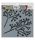 Crafter\u0027s Workshop Julie Fei-Fan Balzer 12\u0027\u0027x12\u0027\u0027 Stencil-Twig & Berries