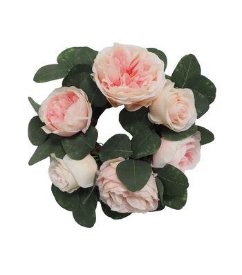 Fresh Picked Spring Femininity Rose Mini Wreath-Pink
