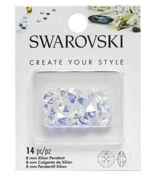 Swarovski Create Your Style 14 pk 8mm Xilion Pendants-Aurora Borealis
