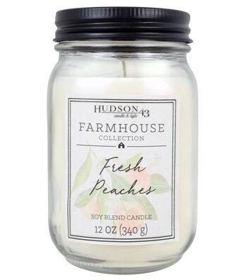 Hudson 43 Farmhouse Collection 12oz Jar Candle-Fresh Peaches