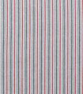 Christmas Cotton Fabric 43\u0022-White Multi Stripe with Red