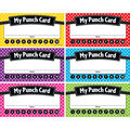 Teacher Created Resources Polka Dots Punch Cards, 60 Per Pack, 6 Packs