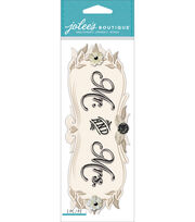 Jolee's Boutique Title Waves Dimensional Stickers-Mr. & Mrs., , hi-res