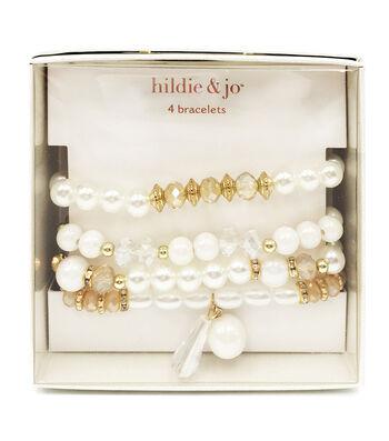 hildie & jo 4 pk Bracelets in a Box-Pearl