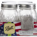 Ball Regular Mouth Keepsake Canning Jars 4/Pkg-Pint USA 16oz