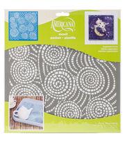 DecoArt Americana 12''x12'' Stencil-Segmented Swirls, , hi-res