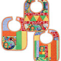 June Tailor Quilt As You Go 3 pk Patterned Baby Bibs