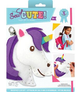 Sew Cute! Mini Unicorn Backpack Clip Kit