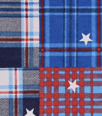 Snuggle Flannel Fabric -Patriotic Madras Plaid