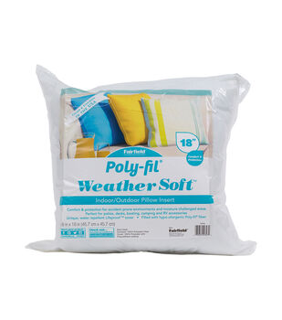 """Poly-Fil Weather Soft Indoor / Outdoor Pillow Insert 18x18"""""""