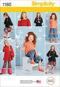Simplicity Pattern 1180K5 7-8-10-12--Children
