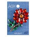 Fab Lab Wearables 2.28\u0027\u0027 Rhinestone Flower Iron-on Applique-Red