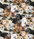 Novelty Cotton Fabric -Photoreal Multi Dogs