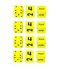 Koplow Games Number Dice Set (Spot, Number & Word), 3 Per Set, 4 Sets