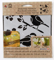FolkArt Small Laser Cut Painting Stencil-Birds, , hi-res
