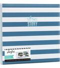 Heidi Swapp Storyline2 Post Bound Album Kit-Blue Stripes