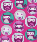 Anti-Pill Plush Fabric-Portrait Owls