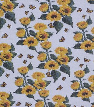 Harvest Cotton Fabric-Sunflower And Butterflies