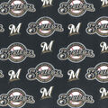 Milwaukee Brewers Cotton Fabric -Mascot Logo