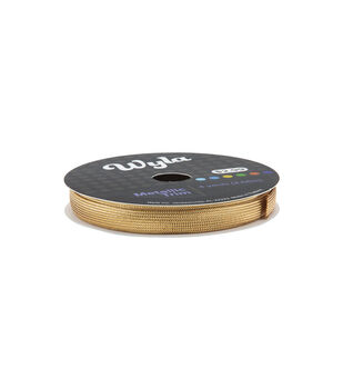 Wyla Metallic Flat Braid Gold