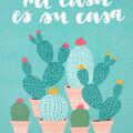 No Sew Fleece Throw 72\u0022-Mi Casa Cacti