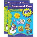 Teacher Created Resources Seasonal Fun Sticker Book, 1514 Per Book
