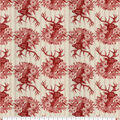 Super Snuggle Flannel Fabric-Red Stag Head on Cream