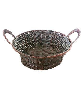 Organizing Essentials Woven Fern Round Basket with Handles